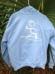 THE SURF KING Hoodie - Sky Blue